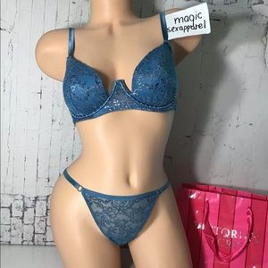 VS 34D 36C VERY SEXY SET EMBELLISHED STUDDED SHINE